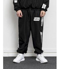 spodnie dresowe black tracksuit bottom with tapes