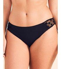 icon spot mesh black bikini bottom