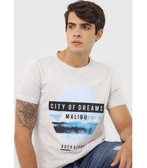 camiseta rock&soda lettering cinza