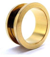 alargador vintage alargadores aço dourado