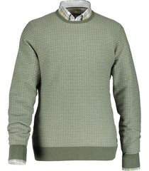 pullover state of art groen structuur