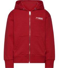 salbyzip over sweat-shirt hoodie trui rood diesel