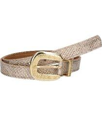 cinturón cuero variedad texturas y colores dorado