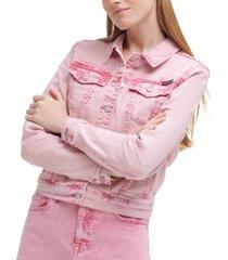 calvin klein jeans acid wash trucker jean jacket