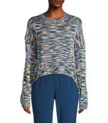 525 america women's multicolored distressed sweater - black multicolor - size l