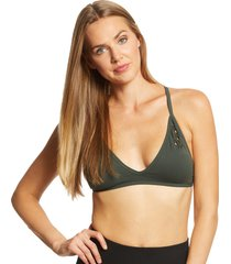 nux women's the net bralette - deep forest small spandex