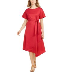weekend max mara knit-to-woven dress