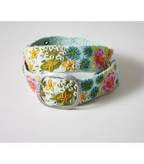 women's mythical gardens wool belt
