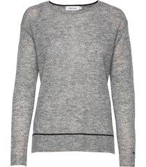 ls alpaca blend sweater gebreide trui grijs calvin klein