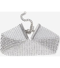*thick sparkle choker - clear