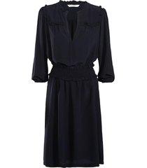 summum jurk viscose blauw