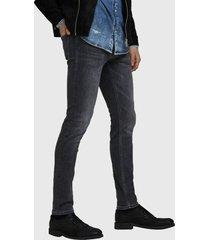 jeans jack & jones glenn slim negro - calce ajustado.