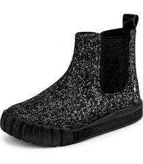botas glitter comfy negro