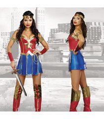 deluxe secret wishes hero wonder woman super hero fancy dress up cosplay costume