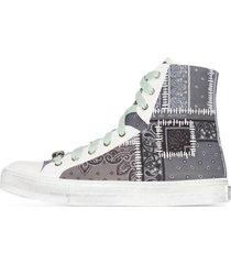 amiri bandana patchwork high top sneakers