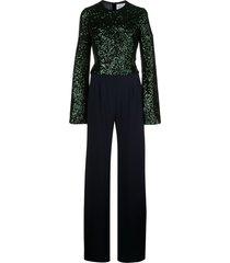 galvan sequin jumpsuit - green