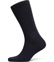 twin-face plain-socklet c/wool underwear socks regular socks blå egtved
