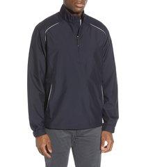 men's big & tall cutter & buck 'weathertec beacon' water resistant half zip jacket, size 3xb - blue
