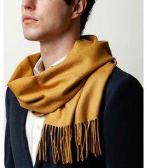 sciarpa da uomo, lanieri, cashmere seta gialla, autunno inverno | lanieri