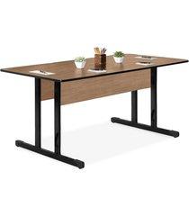 mesa reuniã£o retangular 1,80x0,80 15mm marrom - marrom - dafiti