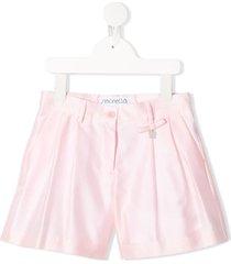 simonetta bow detail shorts - pink