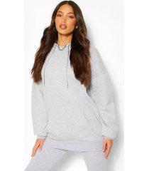 tall oversized hoodie, grey