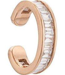 18k rose gold baguette diamond ear cuff