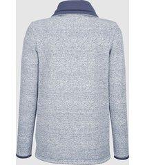 sweatshirt dress in marinblå::offwhite
