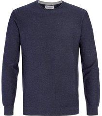 michaelis jeans katoenen pullover met ronde nek |