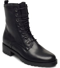 prest shoes boots ankle boots ankle boot - heel svart dune london