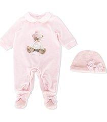 lapin house teddy bear-print pajamas - pink