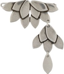 isabel marant asymmetric panelled hair clip - silver
