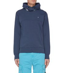 panelled embroidered hoodie