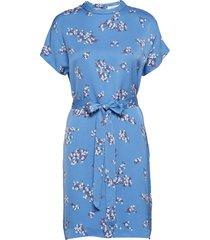 blumea short dress aop 8325 korte jurk blauw samsøe samsøe