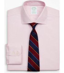 camisa milano fit non-iron rosado brooks brothers