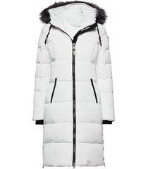 pa jayde faux fur gevoerde lange jas wit pajar