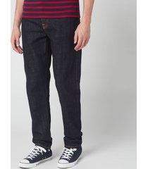 nudie jeans men's steady eddie ii straight jeans - rinsed - w32/l30