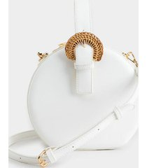 morgan round canteen satchel - white