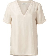 satin lurex t-shirt with tape pale pink