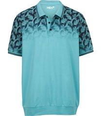 poloshirt men plus turquoise::marine