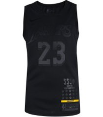 camisa regata nike nba los angeles lakers james 23 - masculina - preto