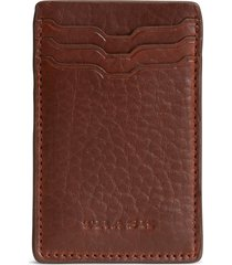 men's trask jackson leather front pocket wallet -
