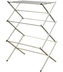 sunbeam 3 tier rust-proof enamel coated steel collapsible clothes drying rack, grey