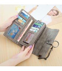 donna borsetta in pelle pu con multi card slots portacellulare portafoglio