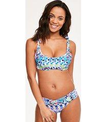 pixelate underwire crop bikini top c-g cup