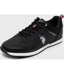 zapatilla urbana negro us polo assn