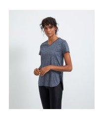 camiseta esportiva manga curta barra traseira alongada   get over   azul   p