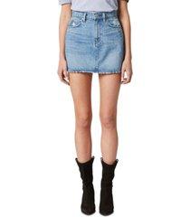 hudson jeans viper cotton denim mini skirt