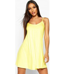 basic swing dress, yellow