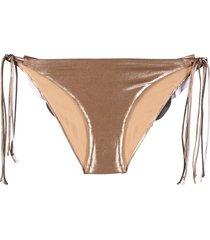 maria lucia hohan bali draped bikini bottom - neutrals